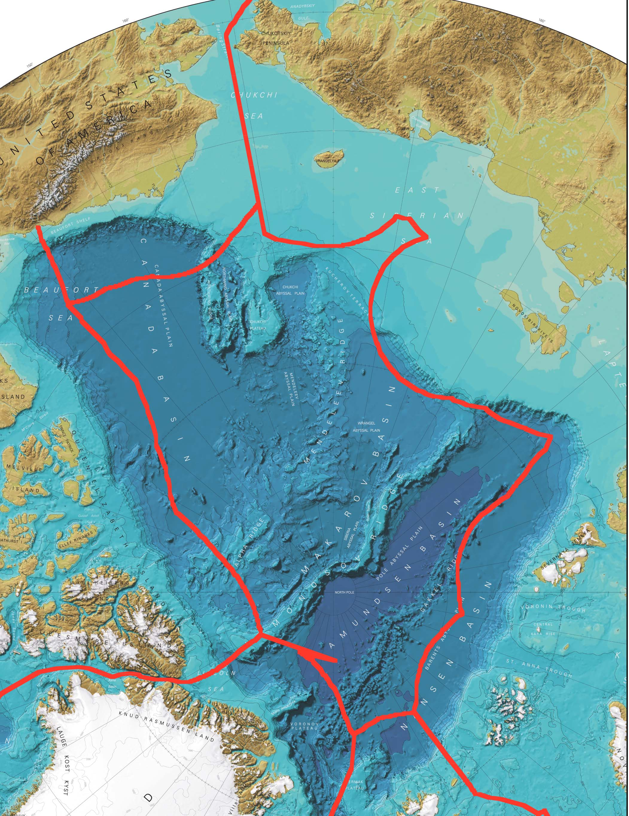 IBCAO Bathymetry with EEZ